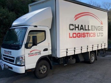 Challenge Logistic Truck Outside Side and Front